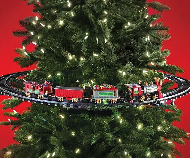 Train Sapin De Noel Train décoratif pour sapin de Noël   Cadeaux de Noël