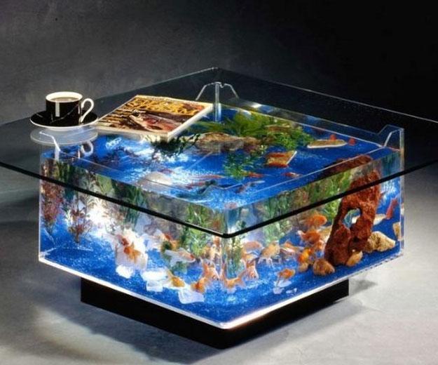 Table Basse Aquarium Maison Bureau