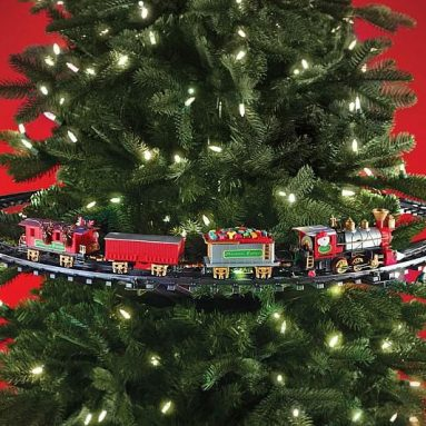 Train décoratif pour sapin de Noël