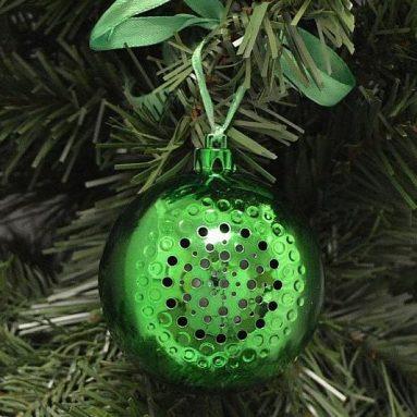 Boule de Noël avec haut-parleur bluetooth intégré