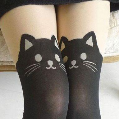 Les collants chat noir